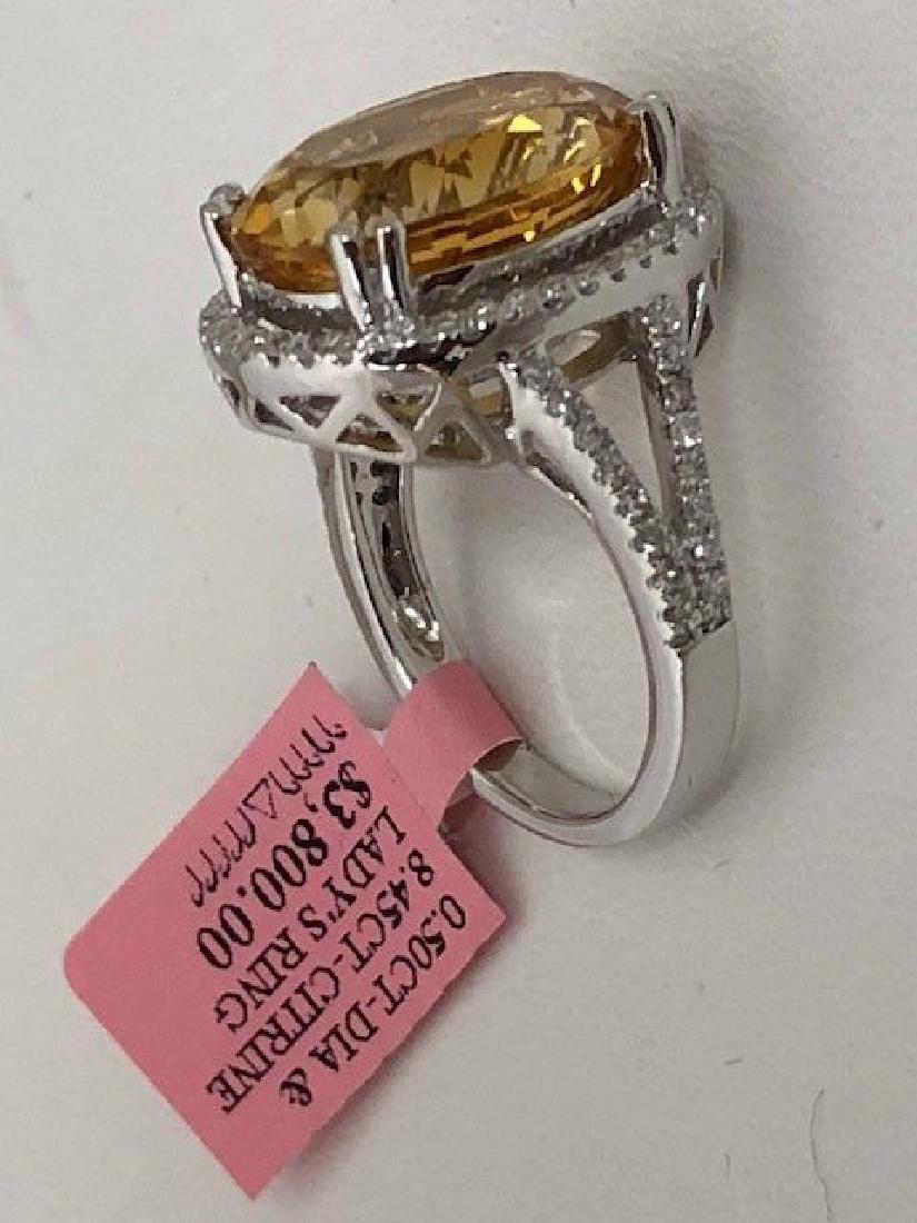 Ladys 14k Diamond Ring - 3