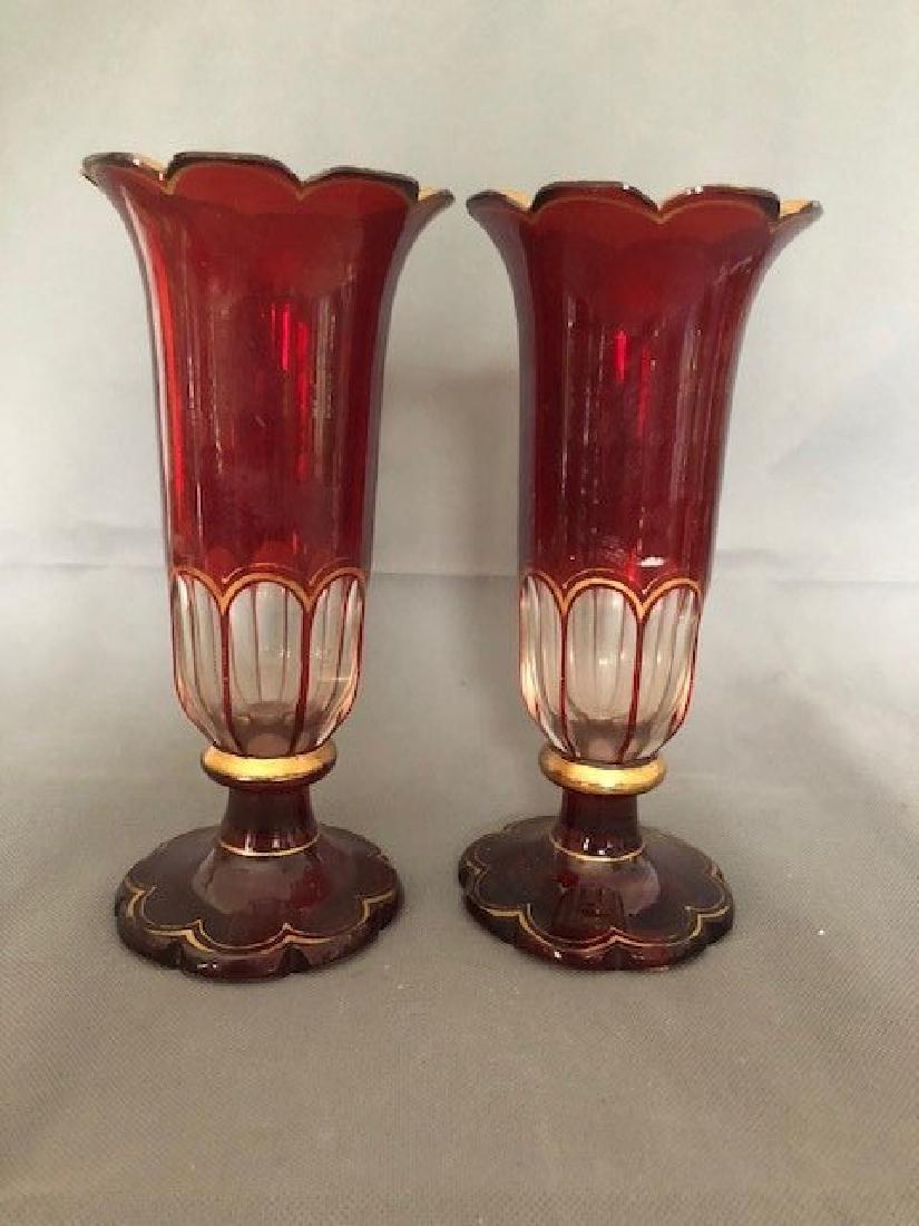 Pair bohemian vases