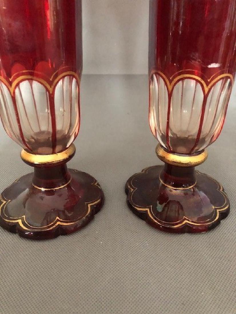 Pair bohemian vases - 2