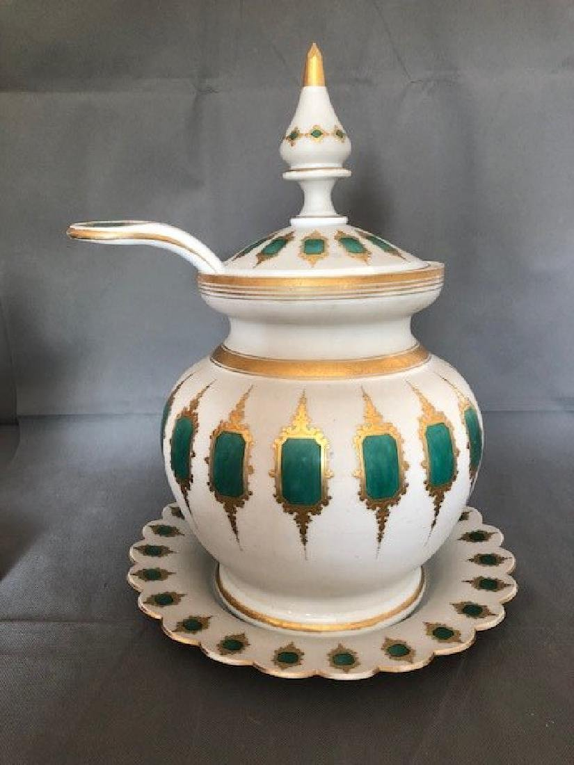 Exceptional punch bowl. Bohemian