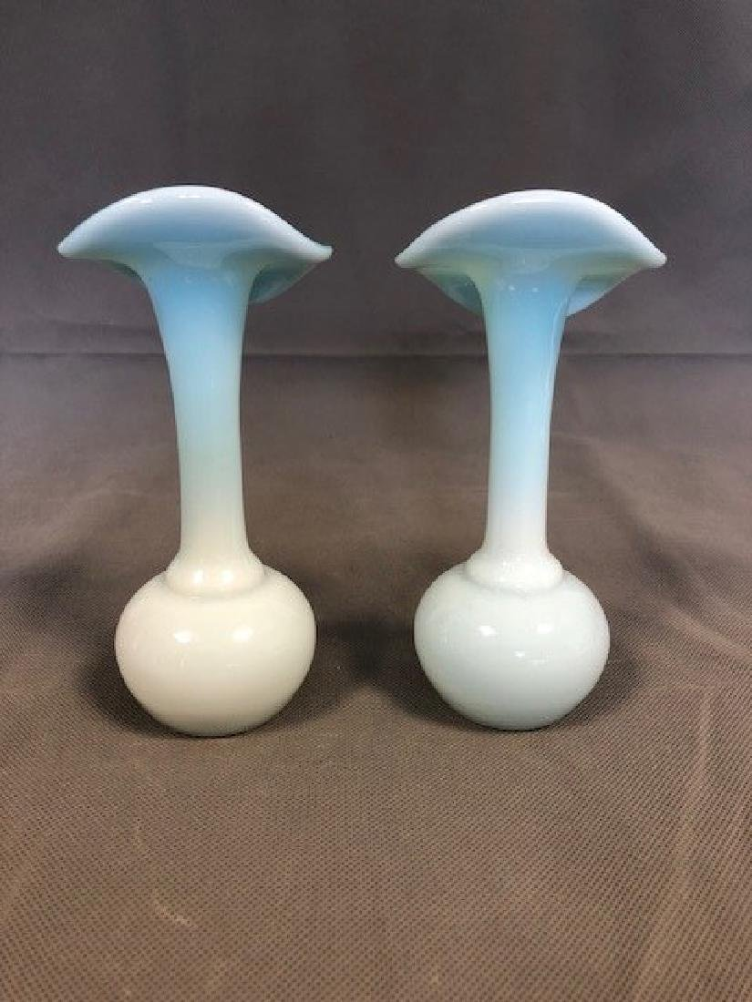 Pair French opaline vases - 2