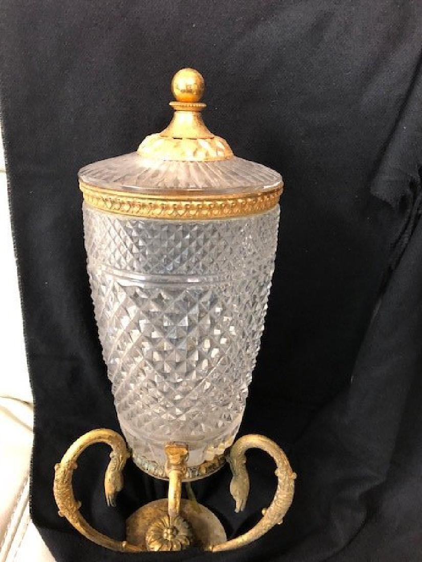 Decorative Glass with Lid and stand