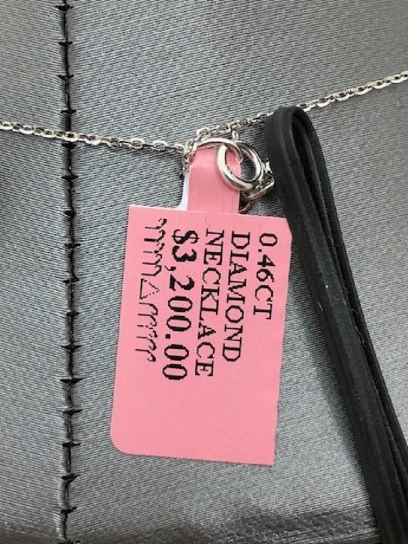 Ladys 14k Diamond Necklace - 3