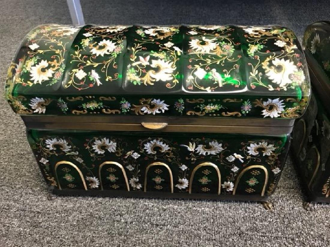 MAGNIFICENT PAIR OF VERY LARGE JEWELRY BOX - 10