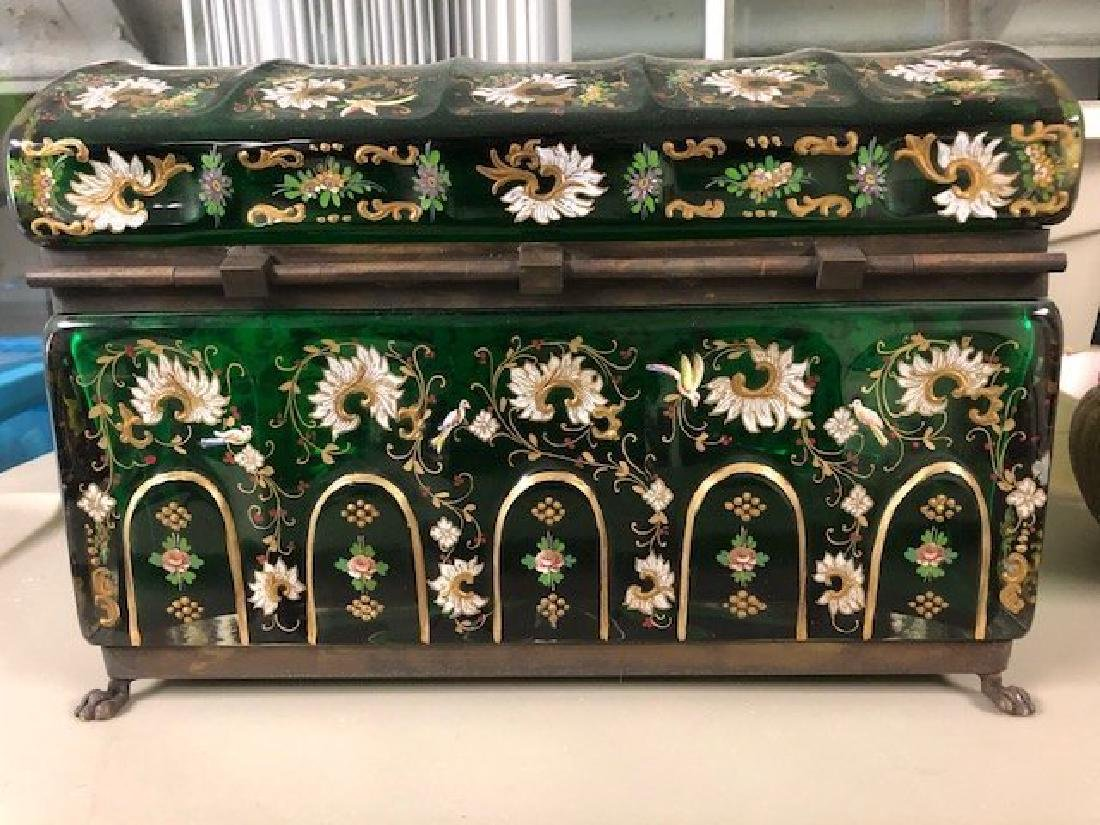 MAGNIFICENT PAIR OF VERY LARGE JEWELRY BOX - 9