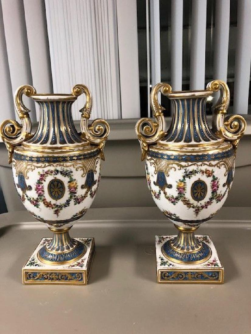PAIR OF SEVERE VASES