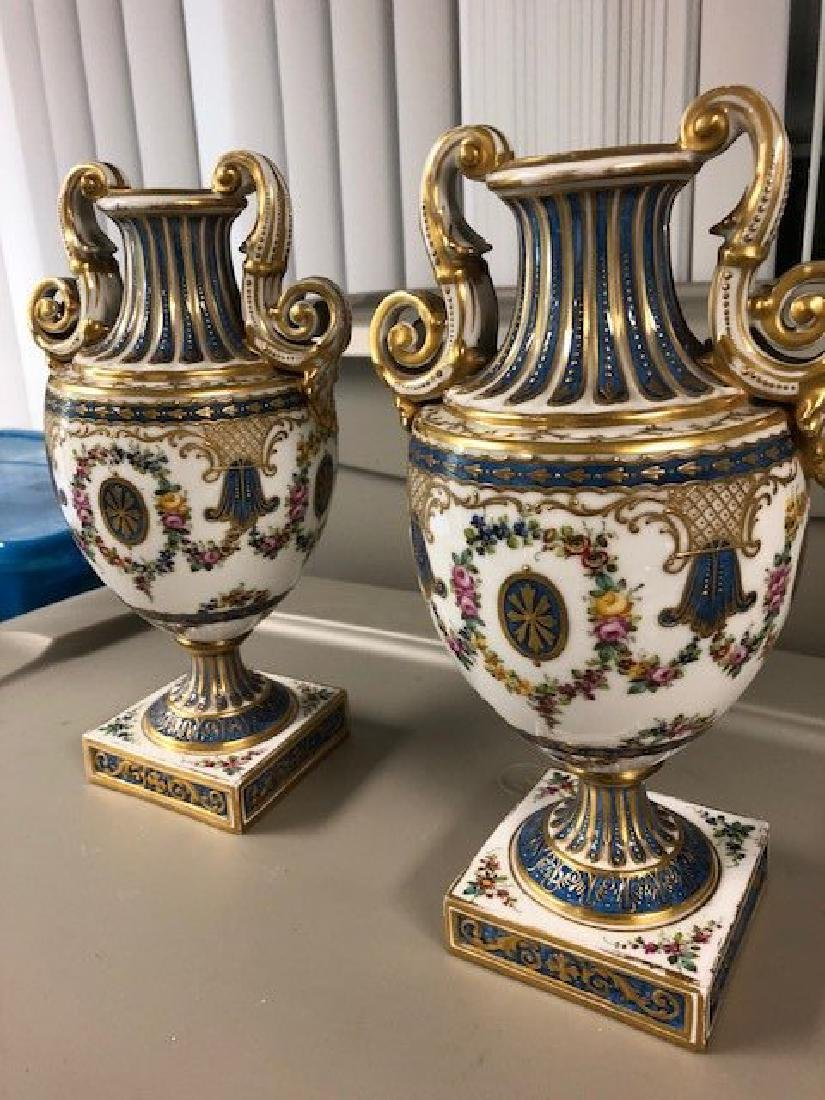 PAIR OF SEVERE VASES - 5