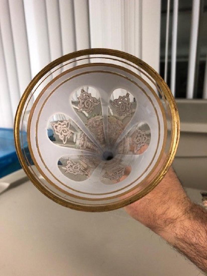 LARGE OVERLAY Bohemian Glass VASE - 2