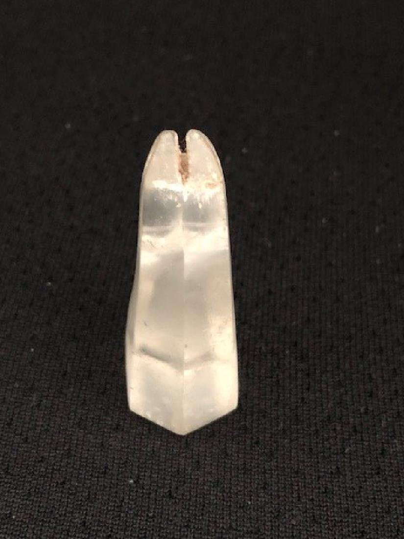 ROCK CRYSTAL CHESS PIECE HORSE - 3