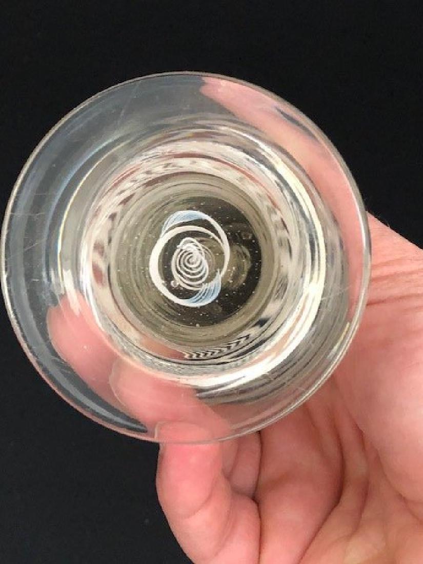 PAIR OF Bohemian Glass VASES ENGRAVED - 3