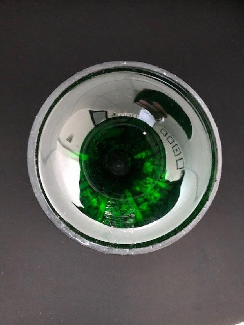 Bohemian GREEN COMPOTE Glass - 4