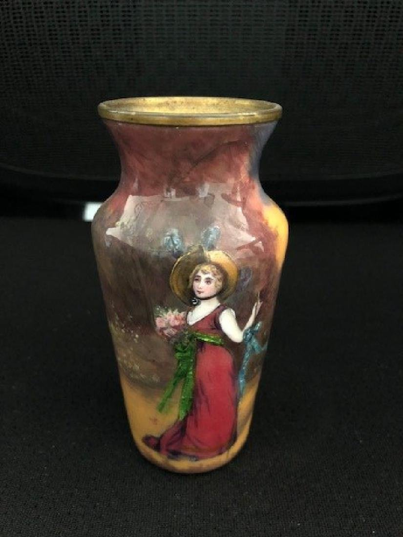 Enamelled Vase with Portrait