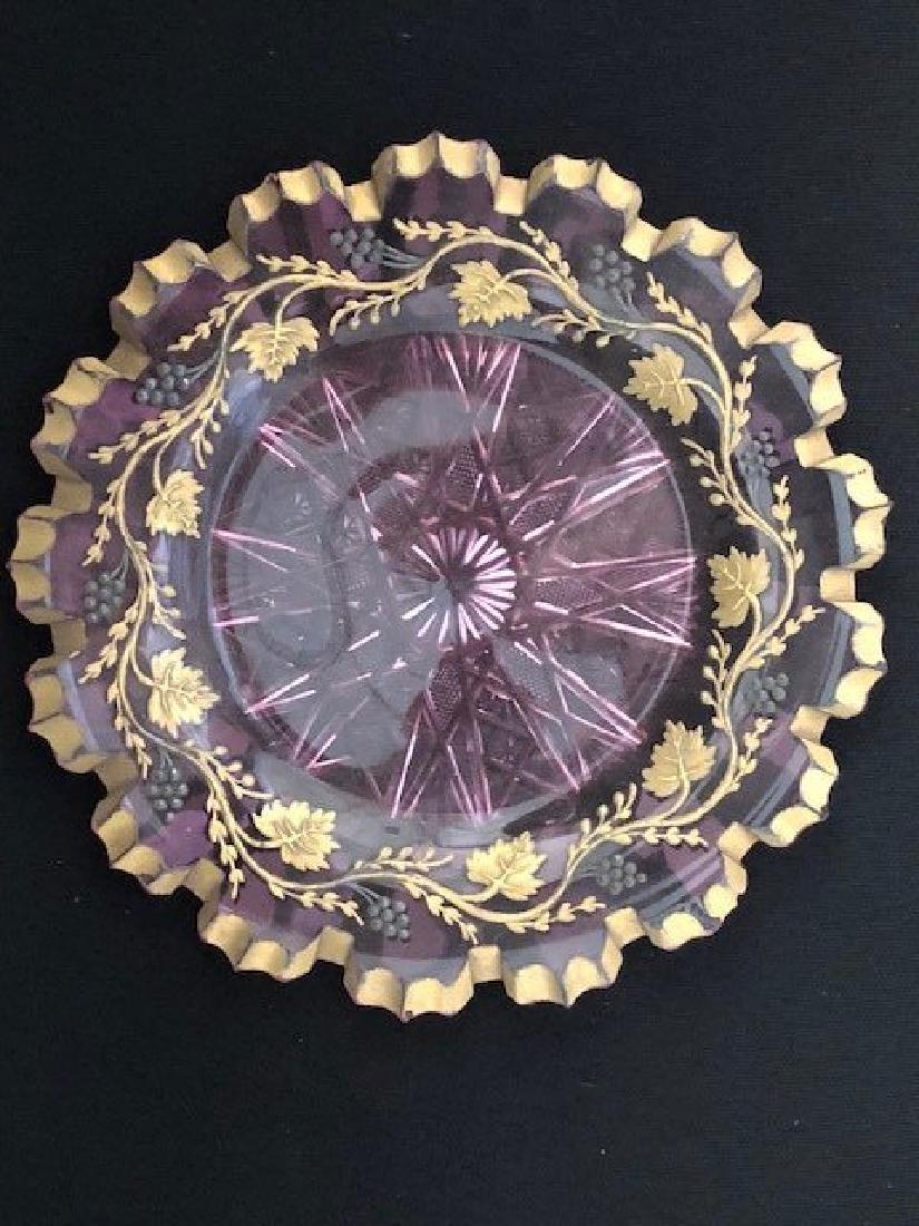 Bohemian Glass Plate
