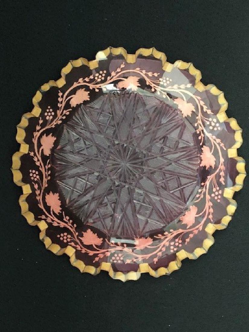 Bohemian Glass Plate - 2