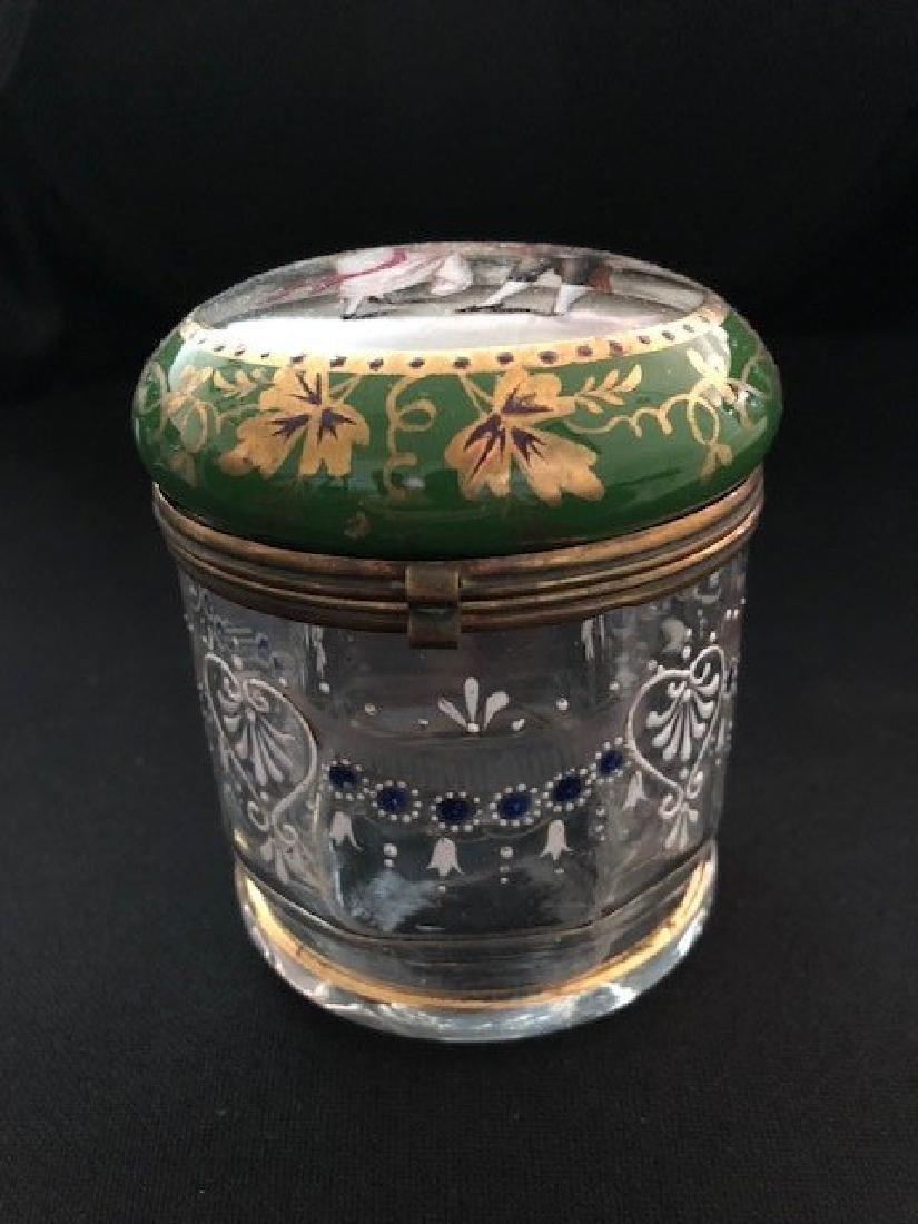 Bohemian Powder glass with Portrait Lid - 3