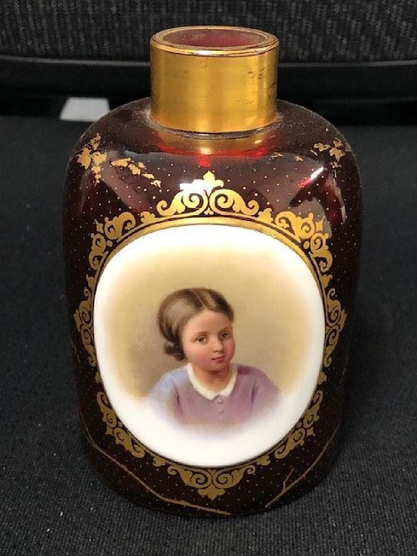 Large Bohemian Portrait Perfume Bottle