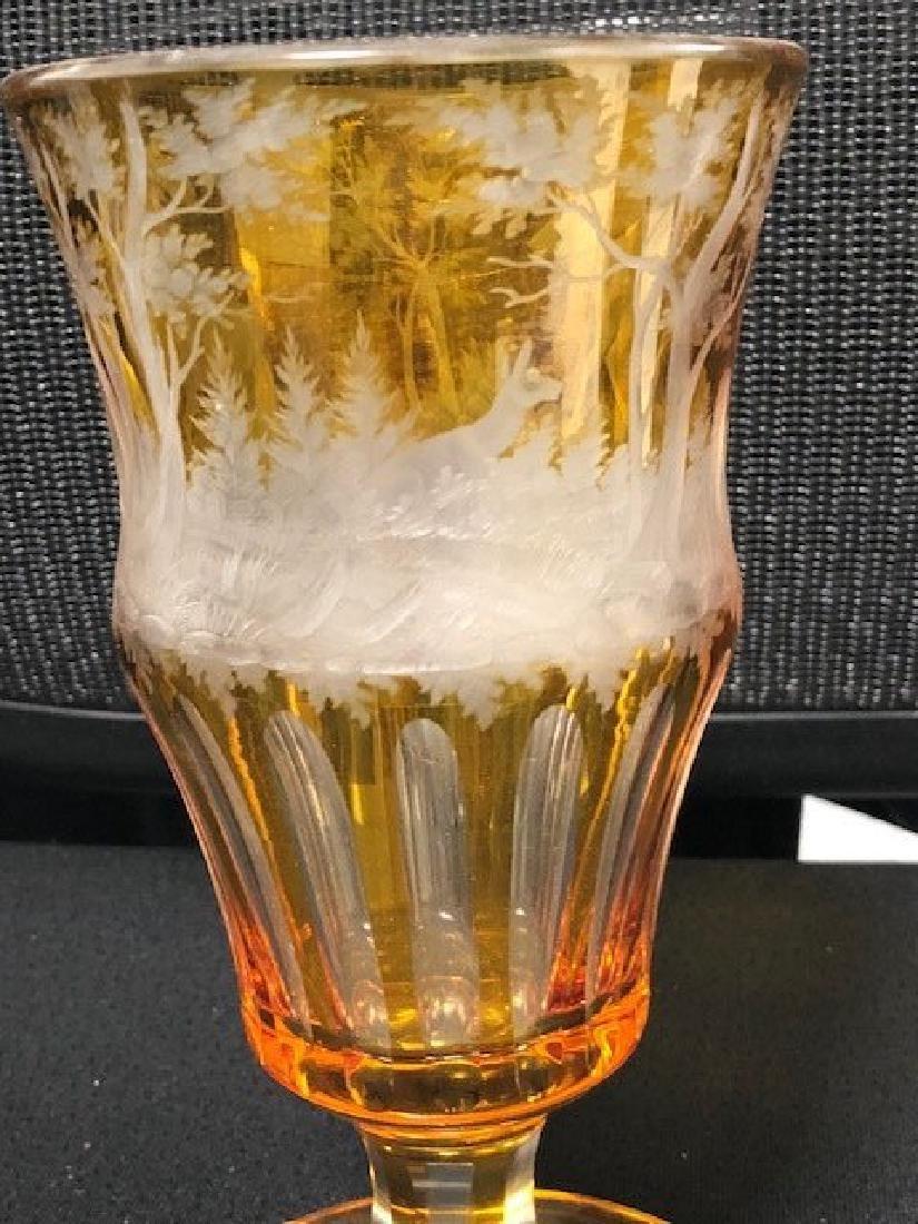 Bohemian Glass Engraved Beaker - 3