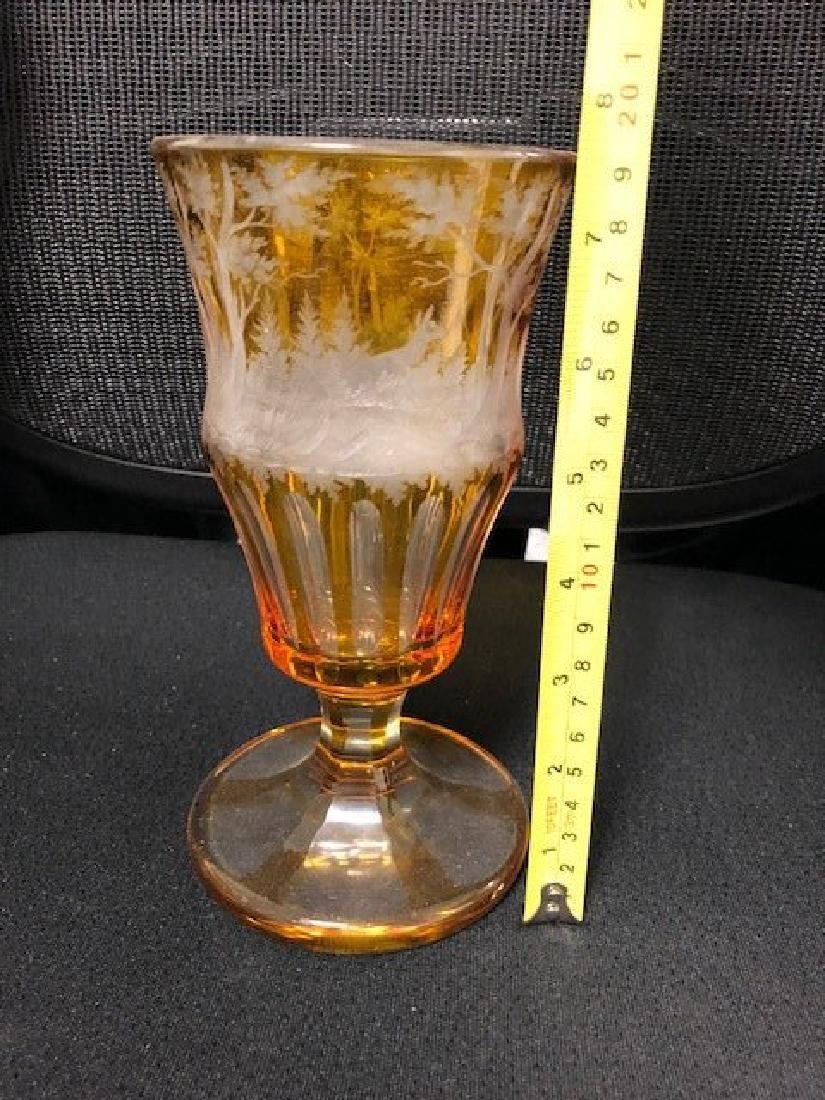 Bohemian Glass Engraved Beaker - 4