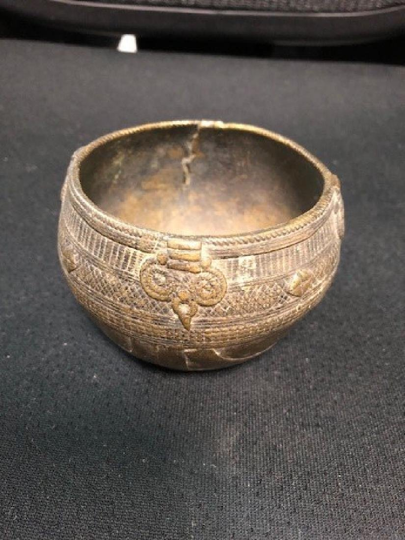 Metal Cup with Detailed work Possibly Bronze