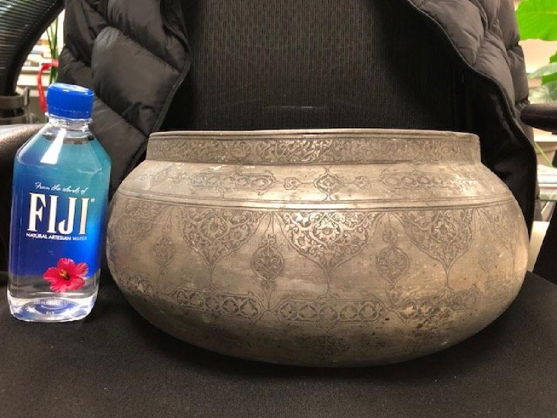 Large Safavid Bowl with Inscription - 2