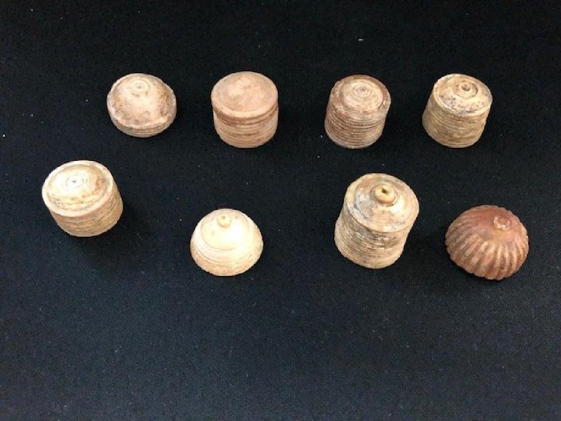 Set of 8 old Chess Piece