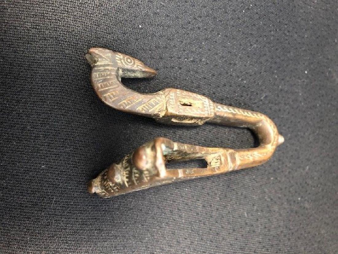 Bronze Buckle head of Horse or Dragon