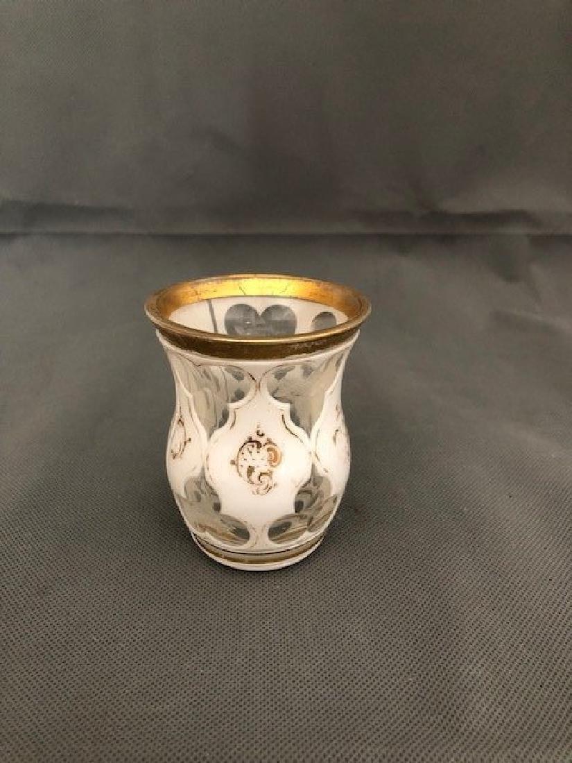 Very unusual white bohemian beaker