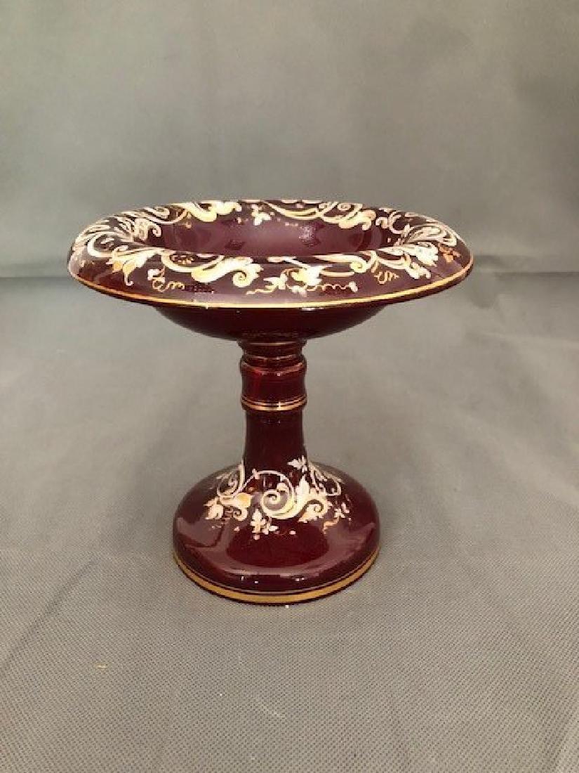 Bohemian ruby enamel bowl