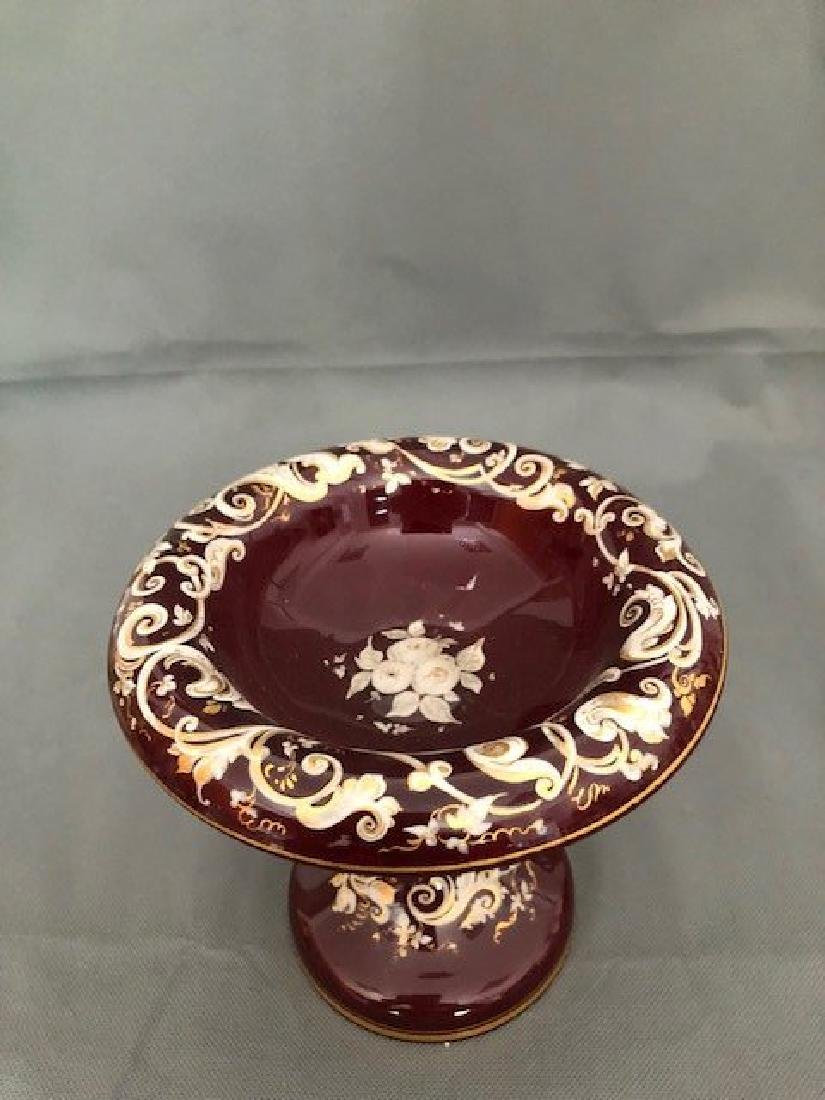 Bohemian ruby enamel bowl - 2