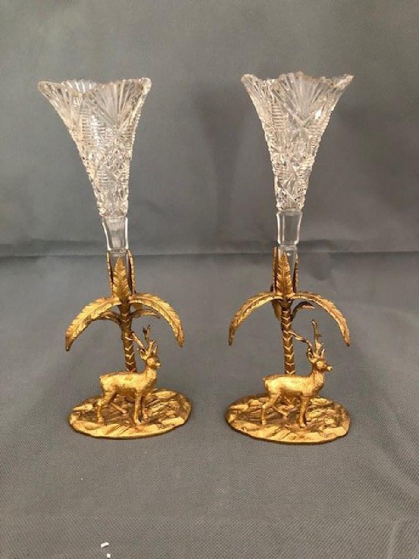 Pair decorative flower vases - 2