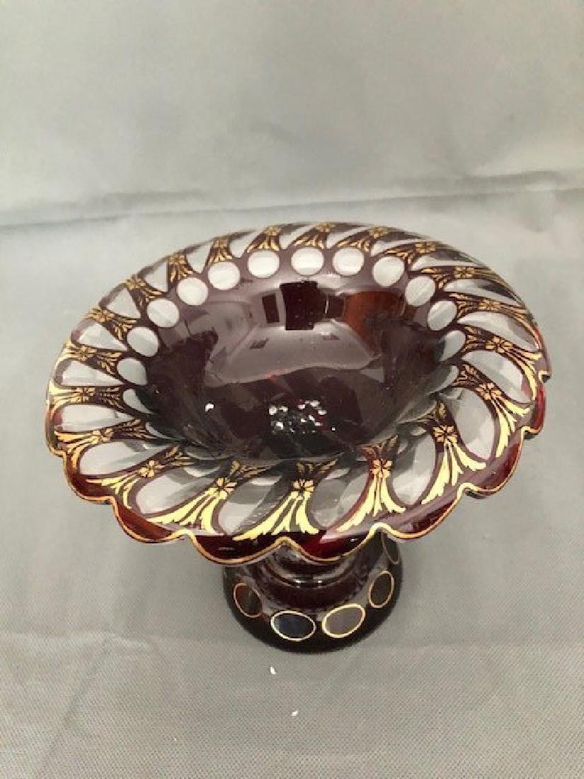 Bohemian ruby bowl - 2