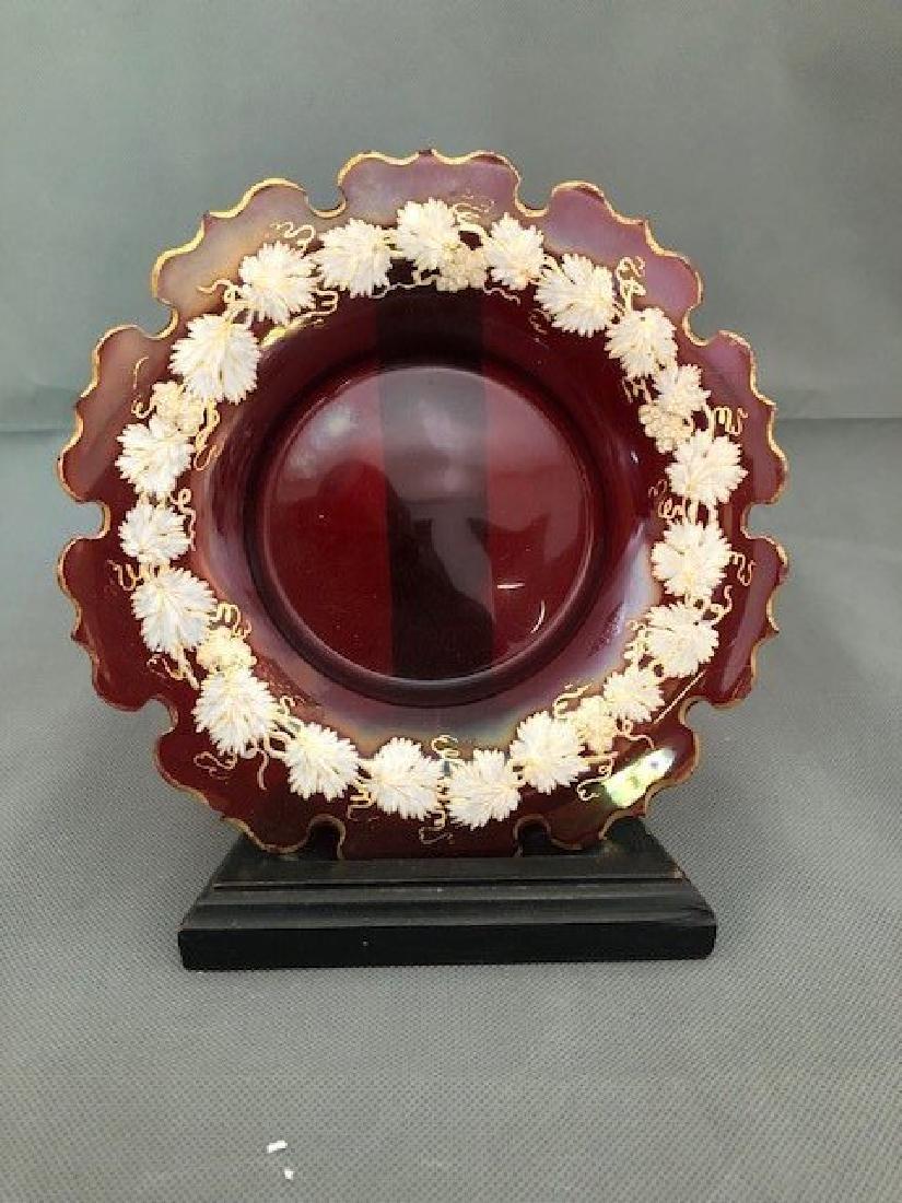 Bohemian ruby plate