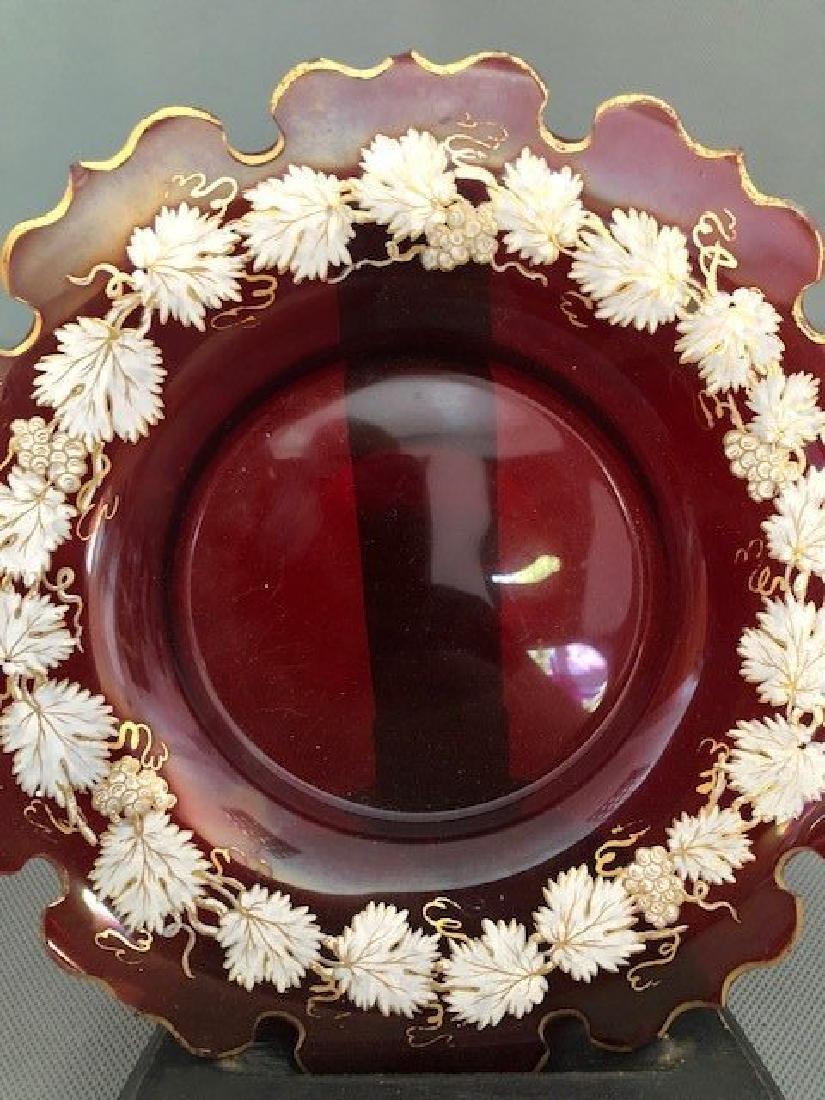 Bohemian ruby plate - 2