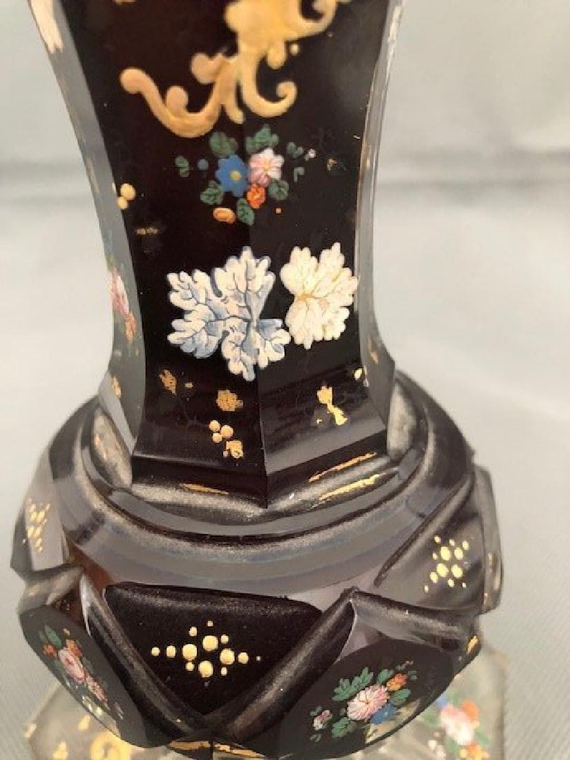 Bohemian ruby vase 18 cm - 3