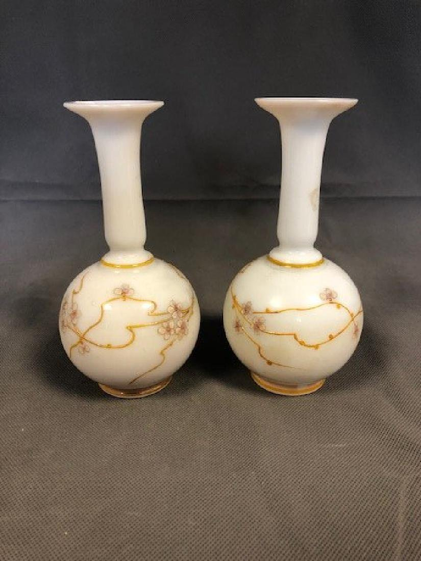 Pair opaline french vases