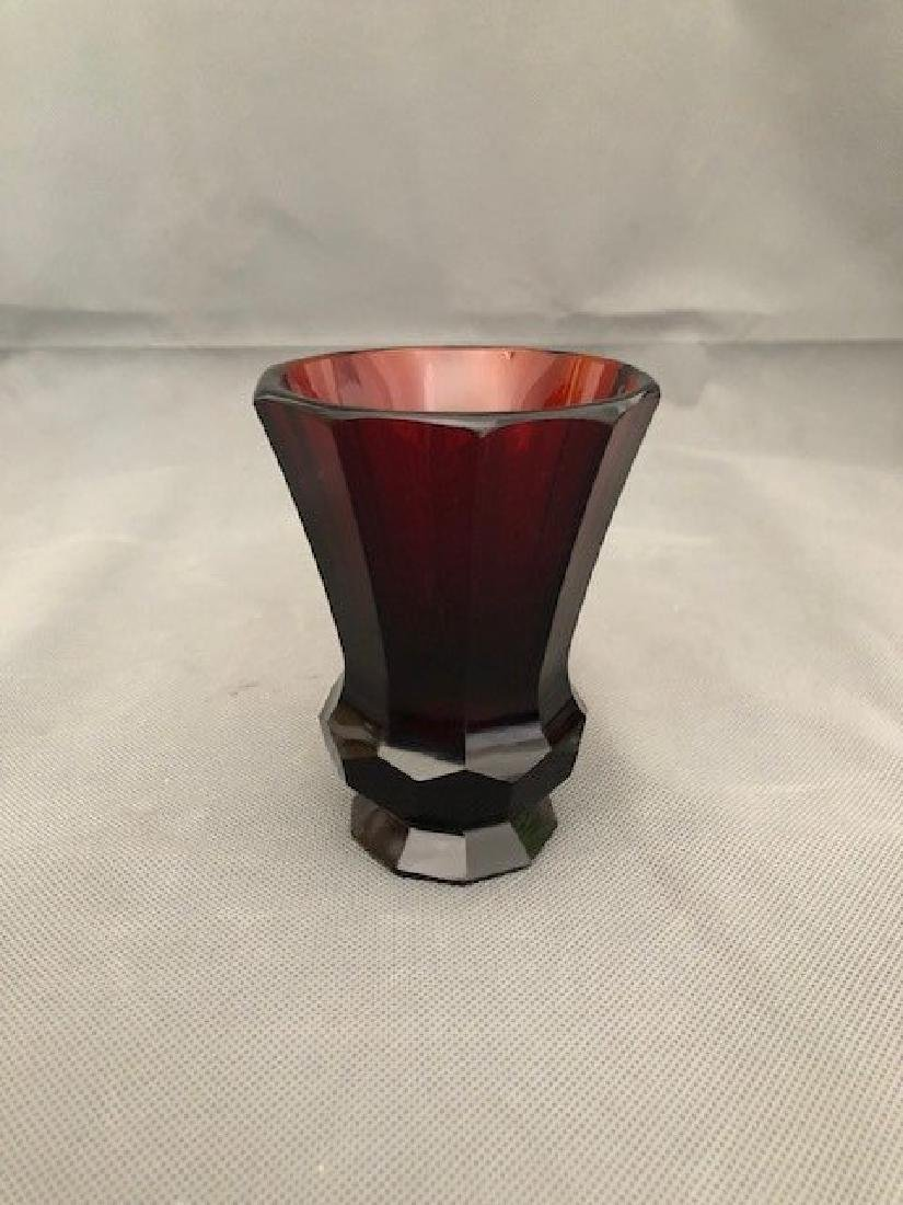 Bohemian ruby goblet