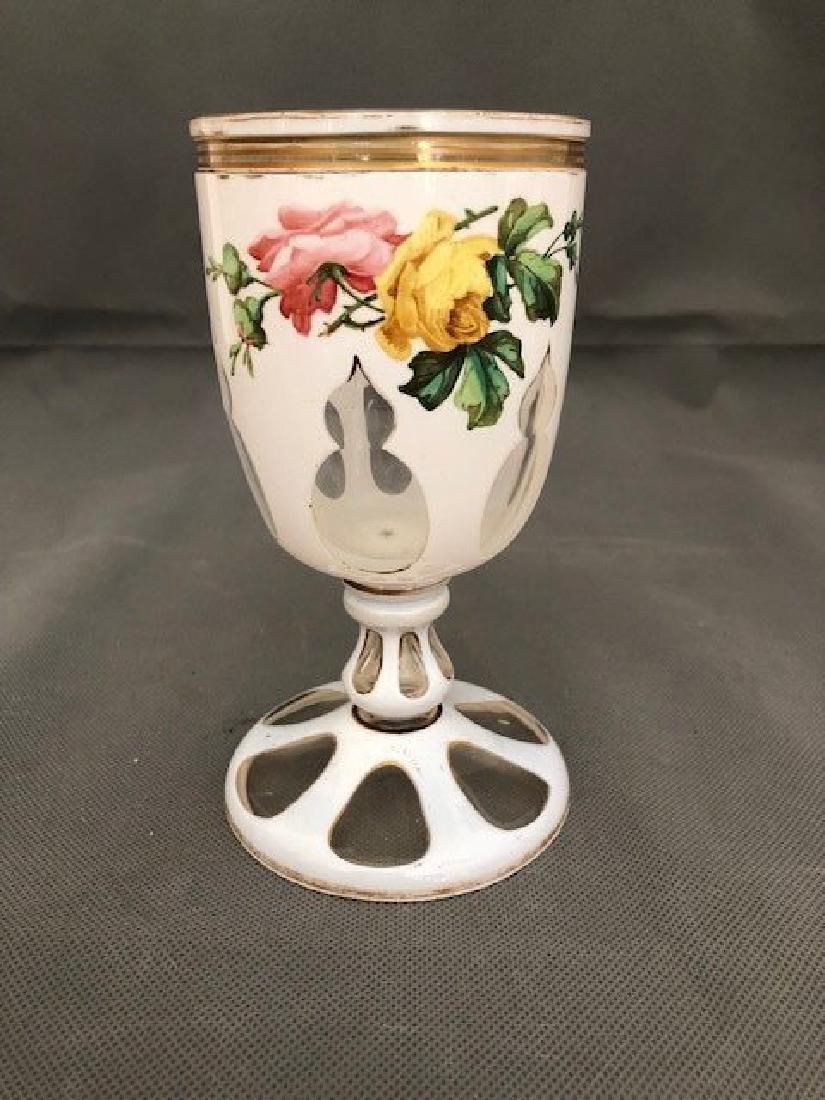 Bohemian white goblet