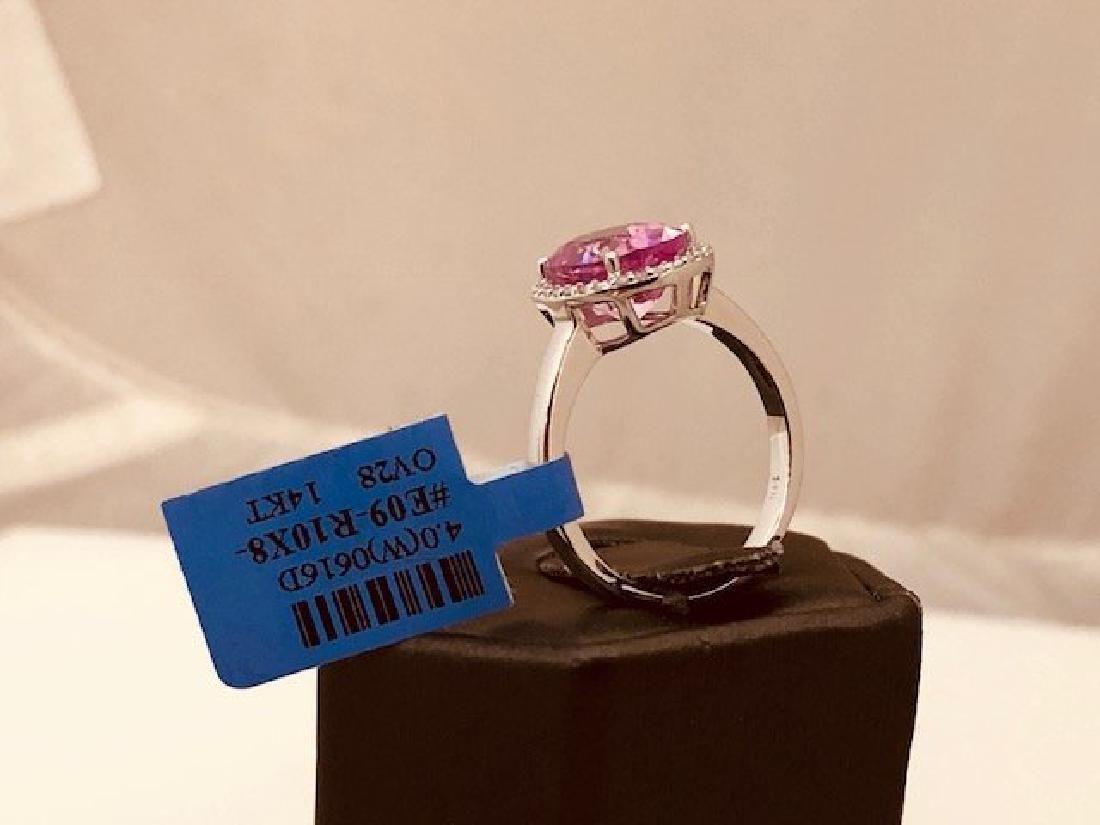 Ladys 14k Diamond Ring - 2