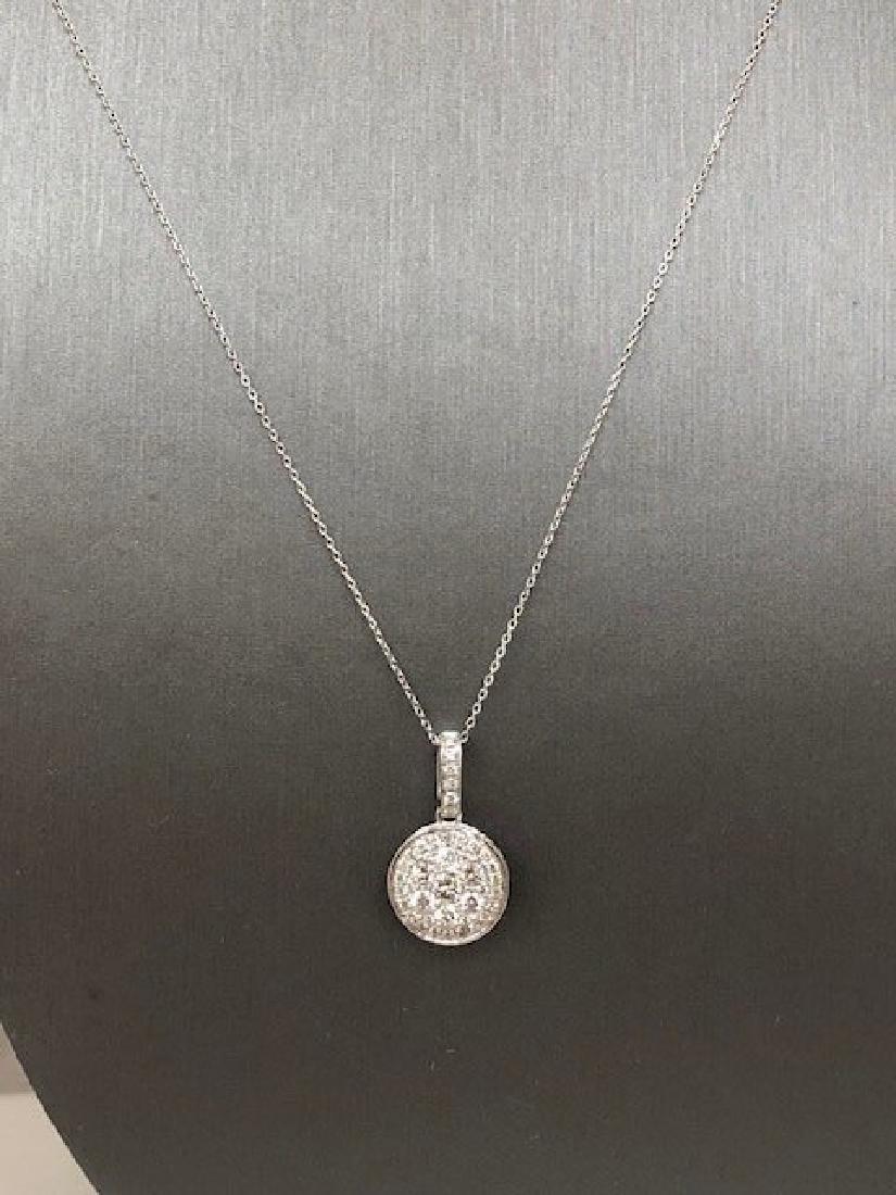 Ladys 14k Diamond Necklace