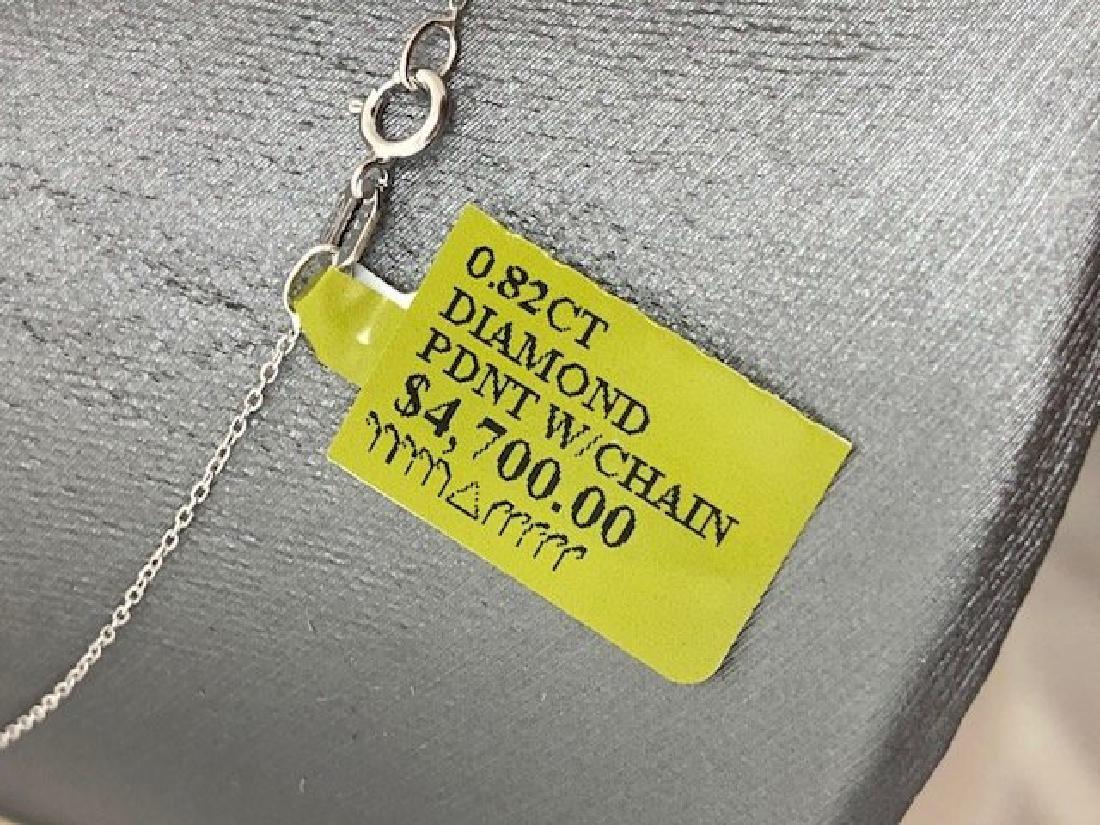 Ladys 14k Diamond Necklace - 2