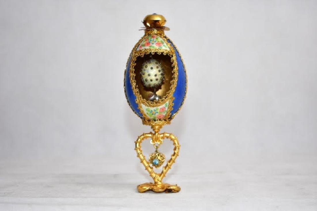 blue modern russian style egg