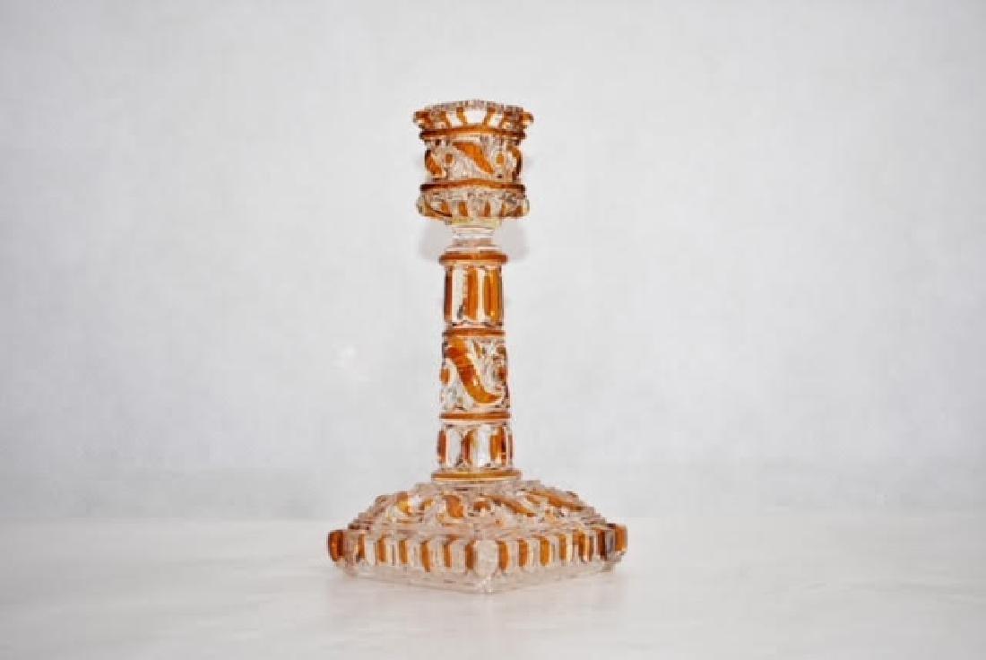 baccarat candle stick 18 cm