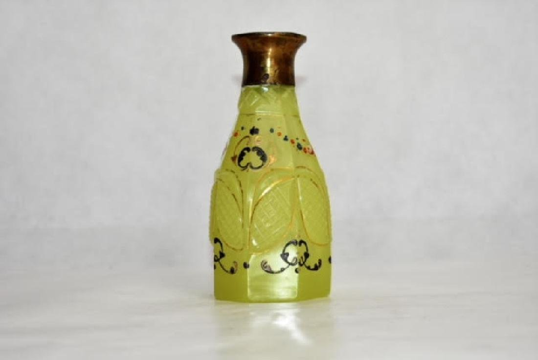 bohemian yellow bottle 12 cm