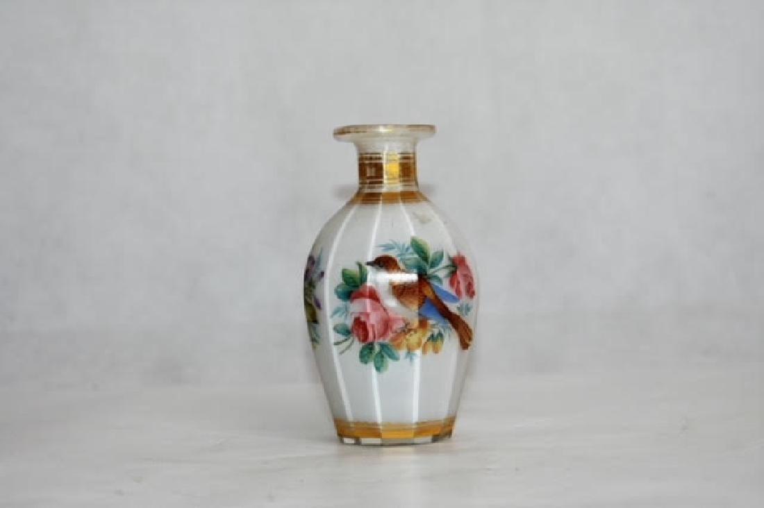 French opaline bottle 11 cm