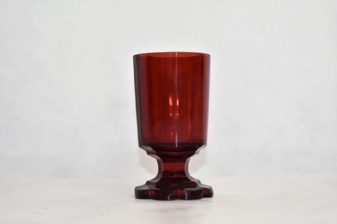 bohemian ruby goblet 12 cm