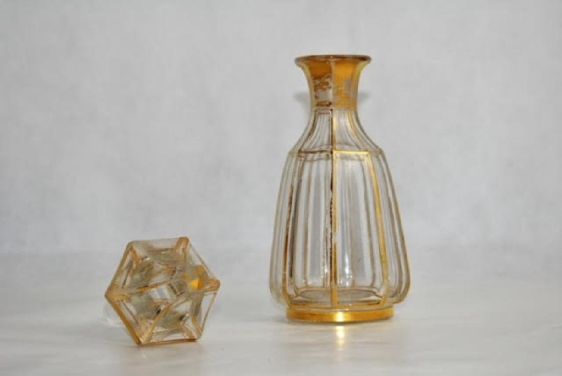 bohemian gold and clear bottle 21 cm. - 2