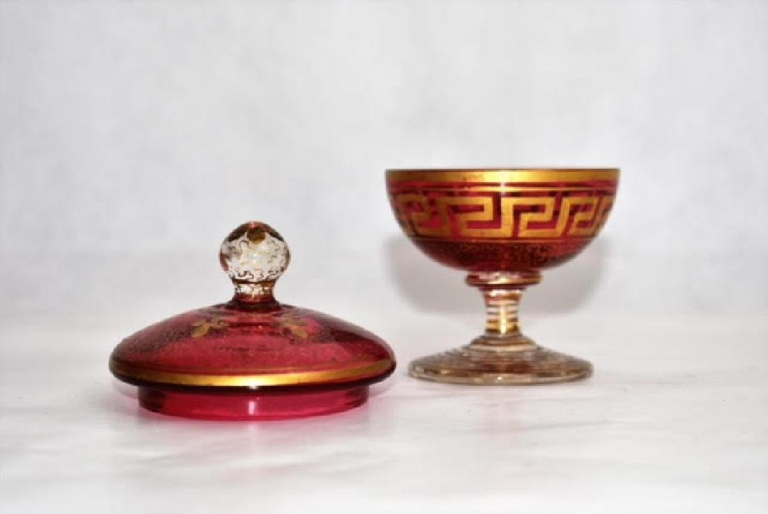 bohemian gilded cup and cover 10 cm - 2