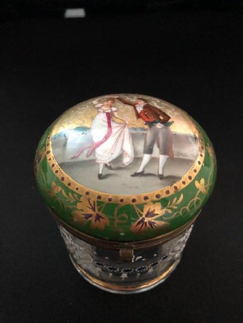 Bohemian Powder glass with Portrait Lid - 2