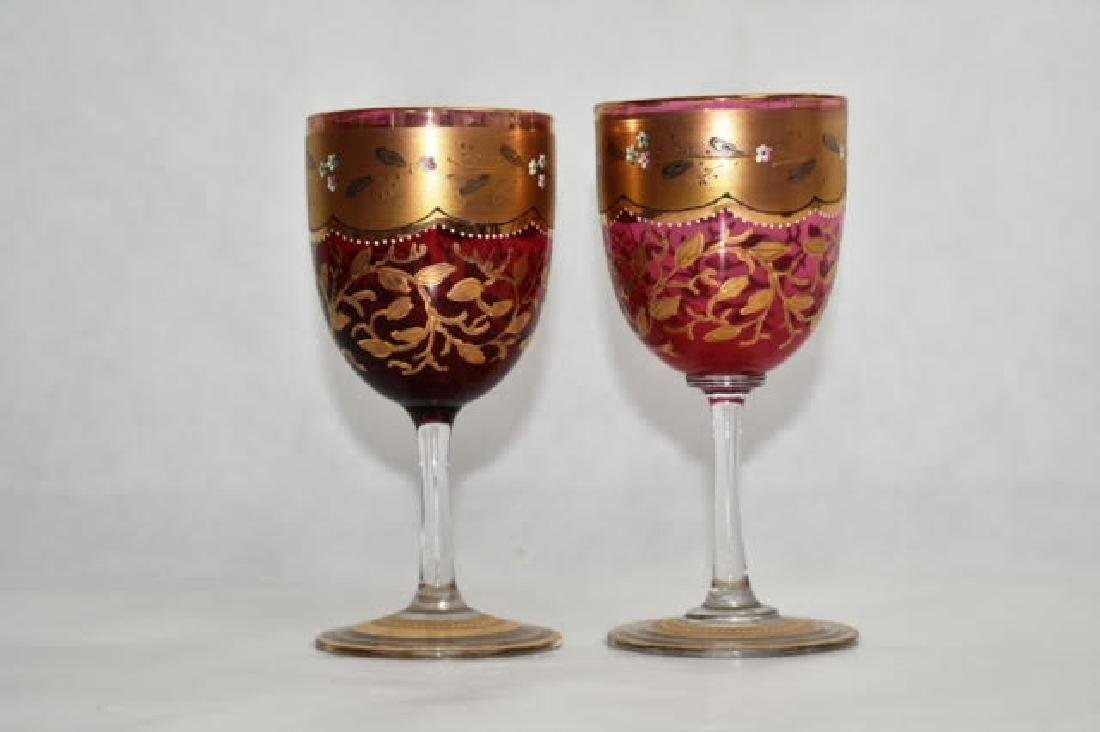 pair possibly moser glasses 13 cm