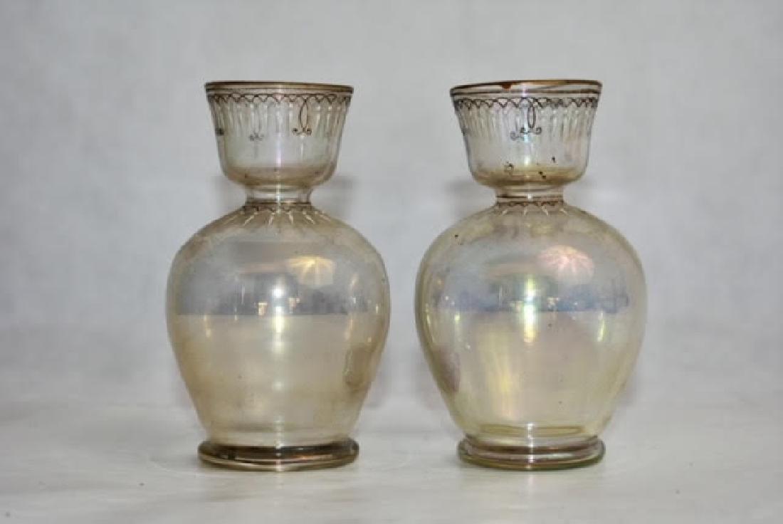 pair clear vases 11 cm